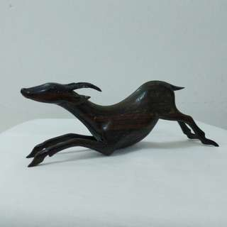 Antique Wood Deer