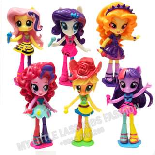 New 6PCS My Little Pony Equestria Girls Singers PVC Figures 13cm
