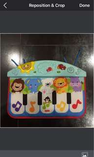 Fisher Price Precious Planet Crib & Floor Piano - for babies