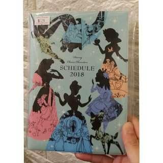 2018 迪士尼公主 schedule book