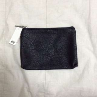 H&M Black Leather Pouch
