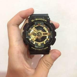 Jam tangan Gshock hitam glossy original