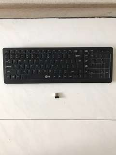 E-60 Silent Compact Ultra-slim Wireless 2.4GHz Multifunction Touch Keyboard