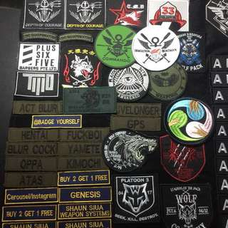 Customizable iLBV Velcro patches