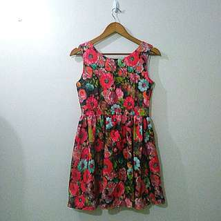 Betty Flower Power Dress Medium