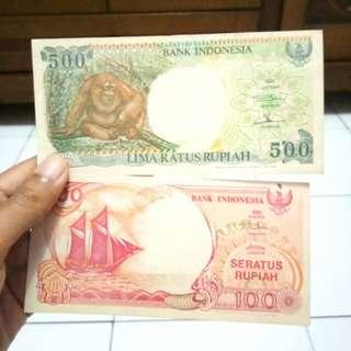 Uang Lama 500 dan 100 Rupiah