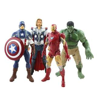 V Movies Marvel The Avengers Hulk Captain Iron MAN PVC Figure Toys 20cm