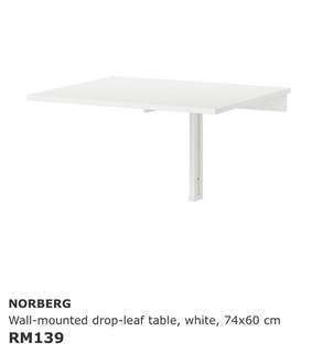 RM100.  Wall mounted drop leaf table. New.