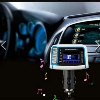 """High quality 1.44"""" LCD Car MP3/MP4 Player FM Transmitter Modulator With Remote Control Car MP3 Playe"""