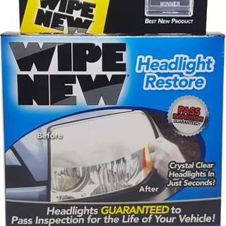 Rust Oleum Wipe New Car Headlight Restoration Kit
