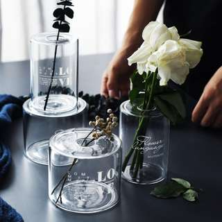 PO Transparent Glass Modern Minimalists Vase