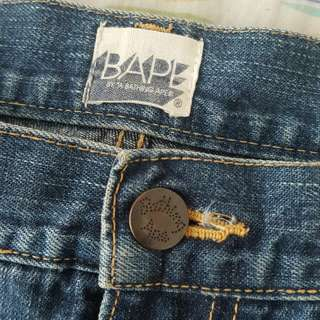 BAPE work denim