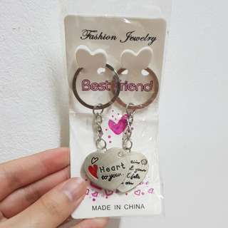 Couples keychain Heart to you