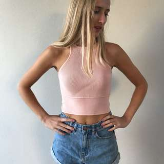 PALE PINK CROP TOP SIZE XS