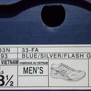 Asics rubber shoes