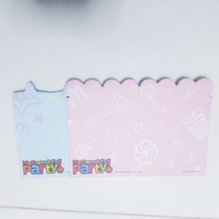 2 NEW Note pads - pink & blue