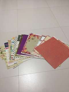 Scrapbook stock card paper all for $8