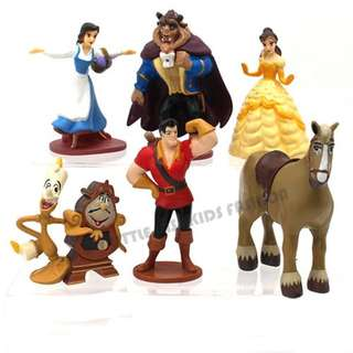 7pcs Beauty and The Beast PVC Figure Cake Topper
