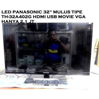Led Tv Panasonic 32 inch Mulus Hdmi Usb Movie Vga Katapang SoReaNG