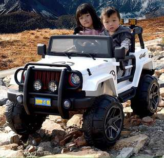White Licensed JEEP 2 Seater Rechargeable Ride On Truck Car