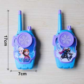 Battery Operated Walkie Talkie playset for kids Frozen