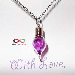 🆕 Handmade Resin Pendant Necklace : Purple series - Unicorn Elixir
