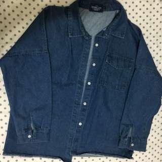 🚚 QueenShop牛仔襯衫外套