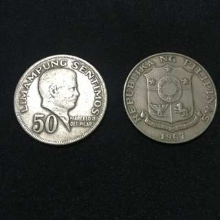1967 (.50 cents) collectable Philippine coins