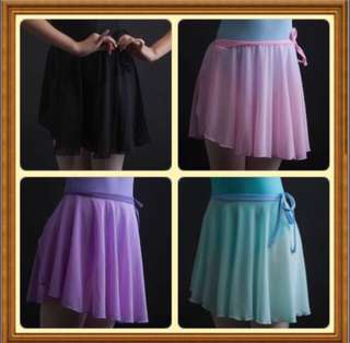 Ballet chiffon wrap skirt