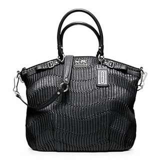Madison Gathered Leather Lindsey bag