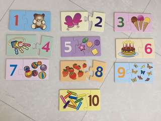 Learning Numbers Puzzle