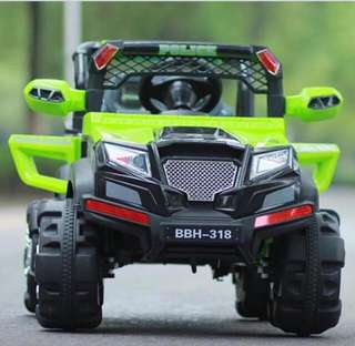 Green Jeep Rechargeable Truck Car