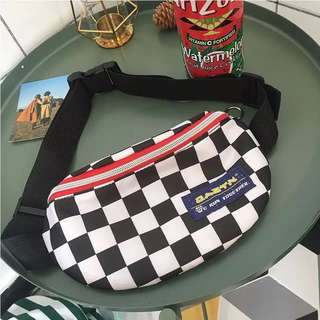 fannypack hypebeast checkerboard