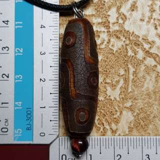 Dzi beads pendant necklace 9 eye 天珠 Db125