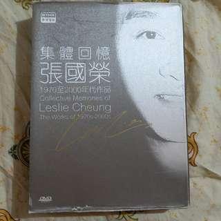 張國榮 集體回憶 印刷簽名 dvd Leslie cheung 盒子殘舊