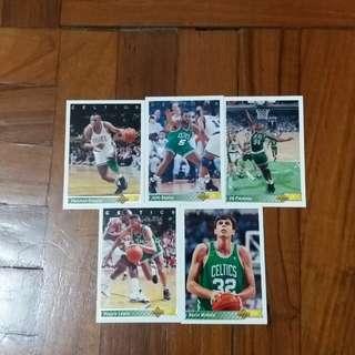 NBA Upper DECK 1992-1993  Boston Celtics 籃球卡