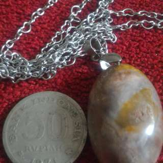 Loket garut necklace & old coin