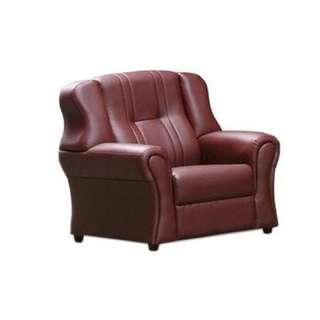 !新生活家具! 酒紅色 單人座《萬象更新》皮沙發 台中免運 鱷魚皮 珠光皮 歐式 平價 套房沙發 單椅 ㄧ人座 辦公椅