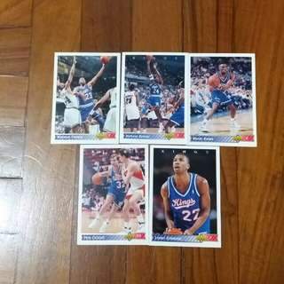 NBA Upper DECK 1992-1993  Kings 籃球卡