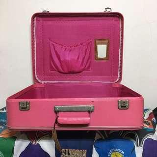 🚚 VINTAGE 粉色手提箱 行李箱 擺設 裝飾 復古傢俱 美式