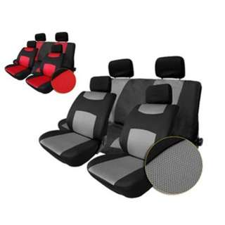 T22507GR 10PCS CAR SEAT COVER SET WATER-RESISTANT ANTI-DUST SANDWICH FABRICS AUTO CUSHION PROTECTOR