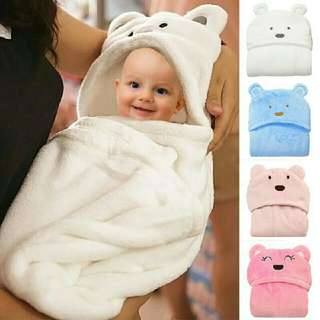 Baby Blanket Towels Animal Style Soft baby blanket Cotton Hooded Bath