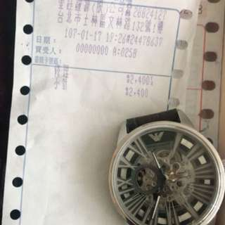 🚚 ARMANI 機械錶 正品