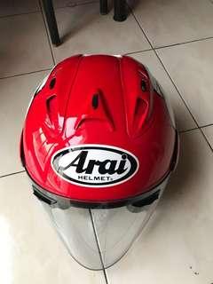 Helmet Arai Ram 4 kenny , merah