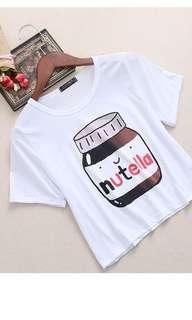 Cute white Nutella Shirt