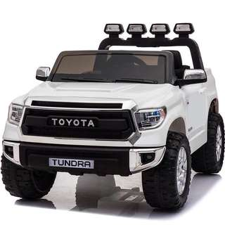 White 2 SEATER Licensed Toyota Tundra Rechargeable Ride On SUV Car