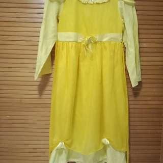 Dress muslim kuning anak