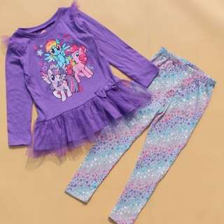 My Little Pony pajamas For Age 2-5 yrs Old