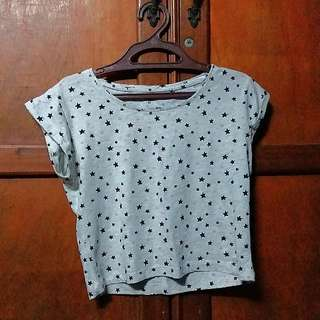 Gray shirt with stars pattern