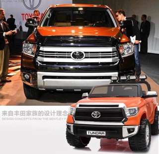 Orange 2 Seater Licensed Toyota Tundra  Rechargeable Ride On SUV Car